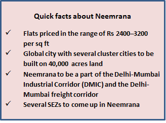 Quick facts about Neemrana real estate