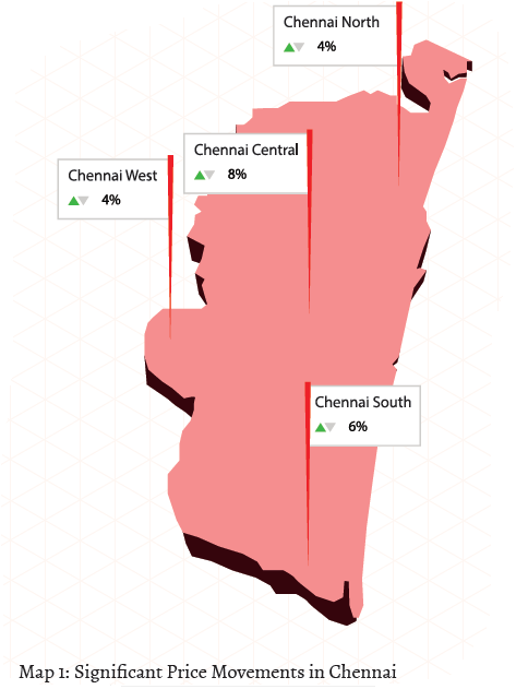 Significant price movements in Chennai_Jan-Mar 2015
