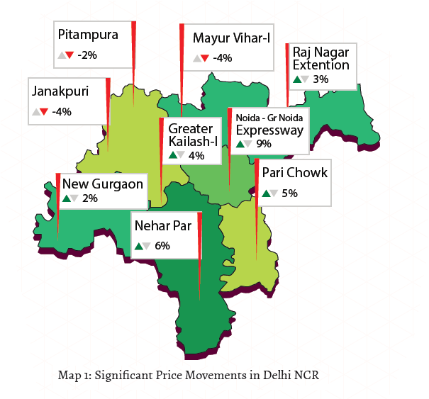 Significant price movements in Delhi NCR_Apr-Jun 2015