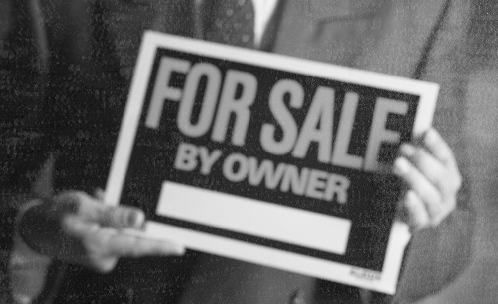 Why does distress sale of a property happen?