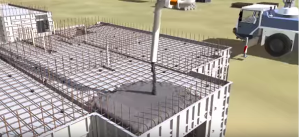 Mivan Shuttering_pouring concrete