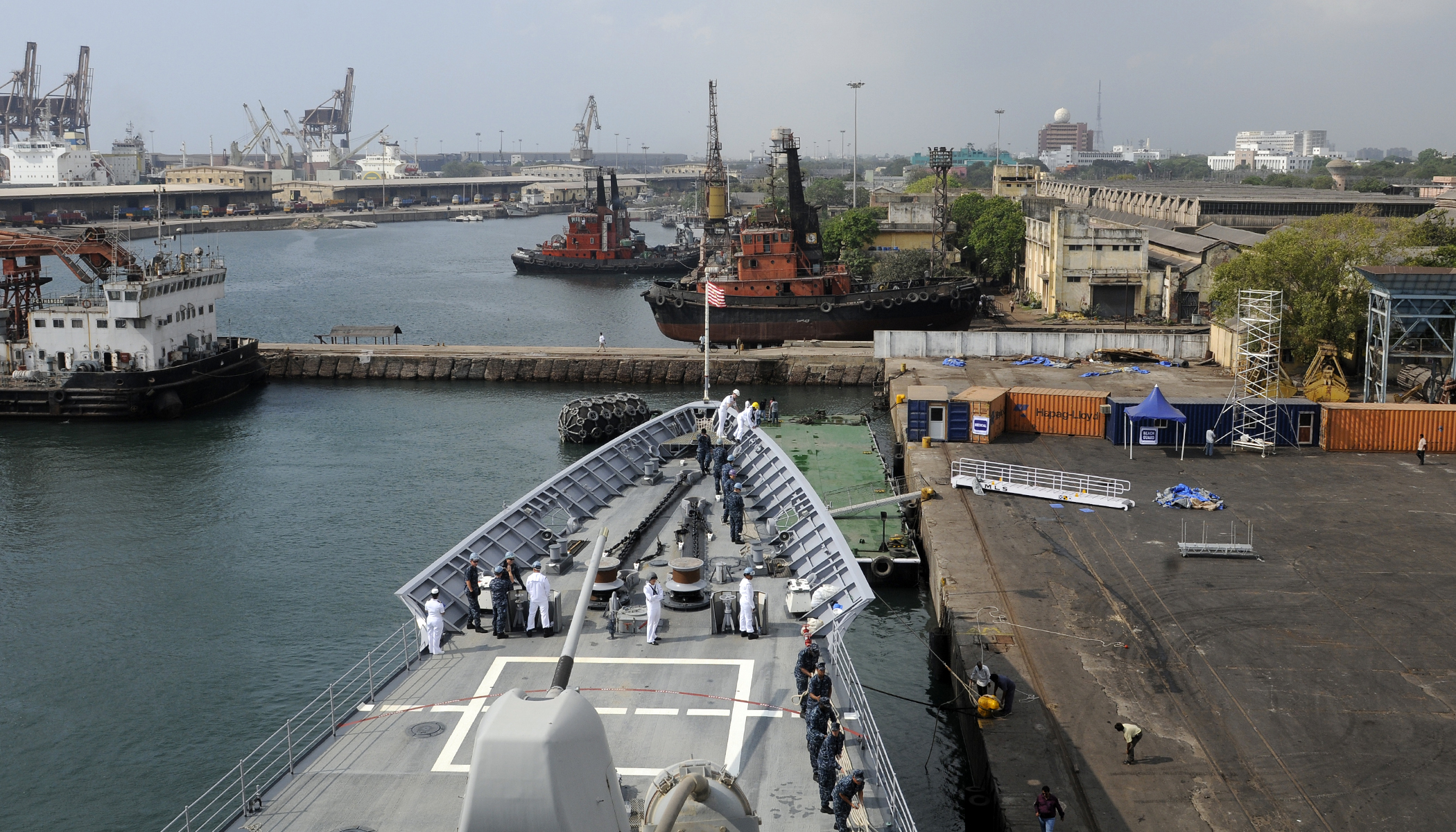 chennai port development Chennai port which is situated in the coromandel coast in south-east india has   indicates sustainable growth and development of business at chennai port.