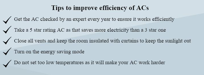 tips to improve efficiency of air conditioner