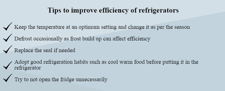 tips to improve efficiency of refrigerator