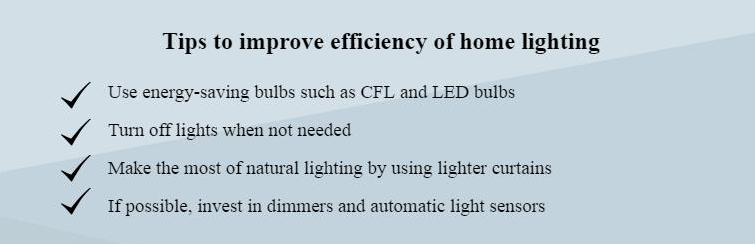tips to improve efficiency of lighting systems