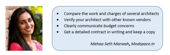 Tips to hire an architect mehaa seth marwah