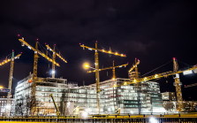 construction work at night