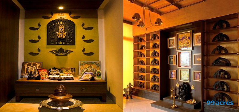 pooja room designs for home.  Tips to design the Pooja room of your home