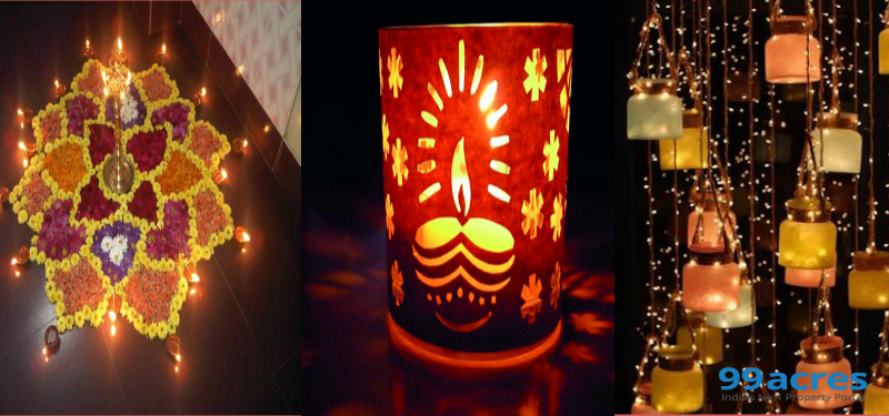 Low cost home decor ideas for diwali Home decorations for diwali