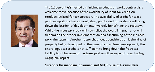Quote Surendra Hiranandani, Chairman and MD