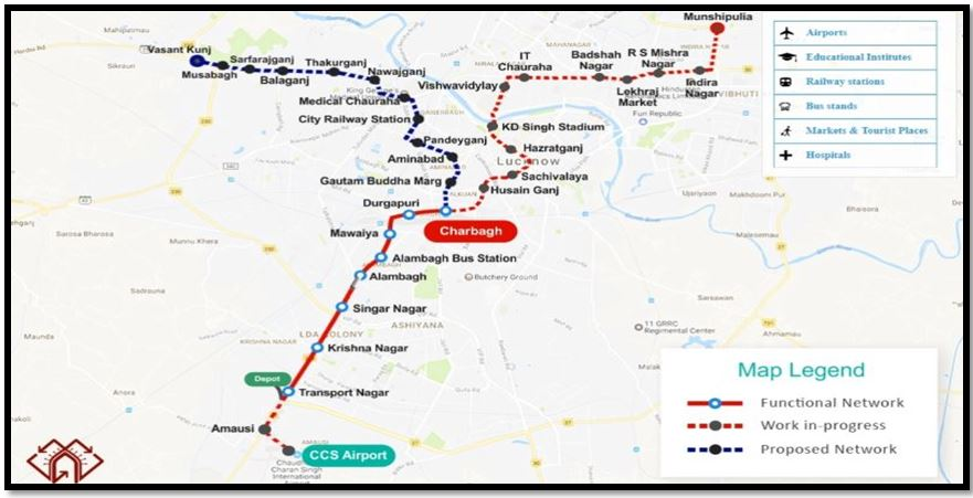 Lucknow Metro Map.Lucknow Metro Rail To Boost Realty Quotient