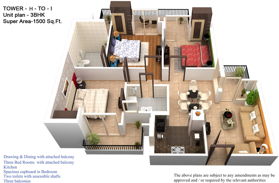 3d view house plans india for 3d virtual tour house plans
