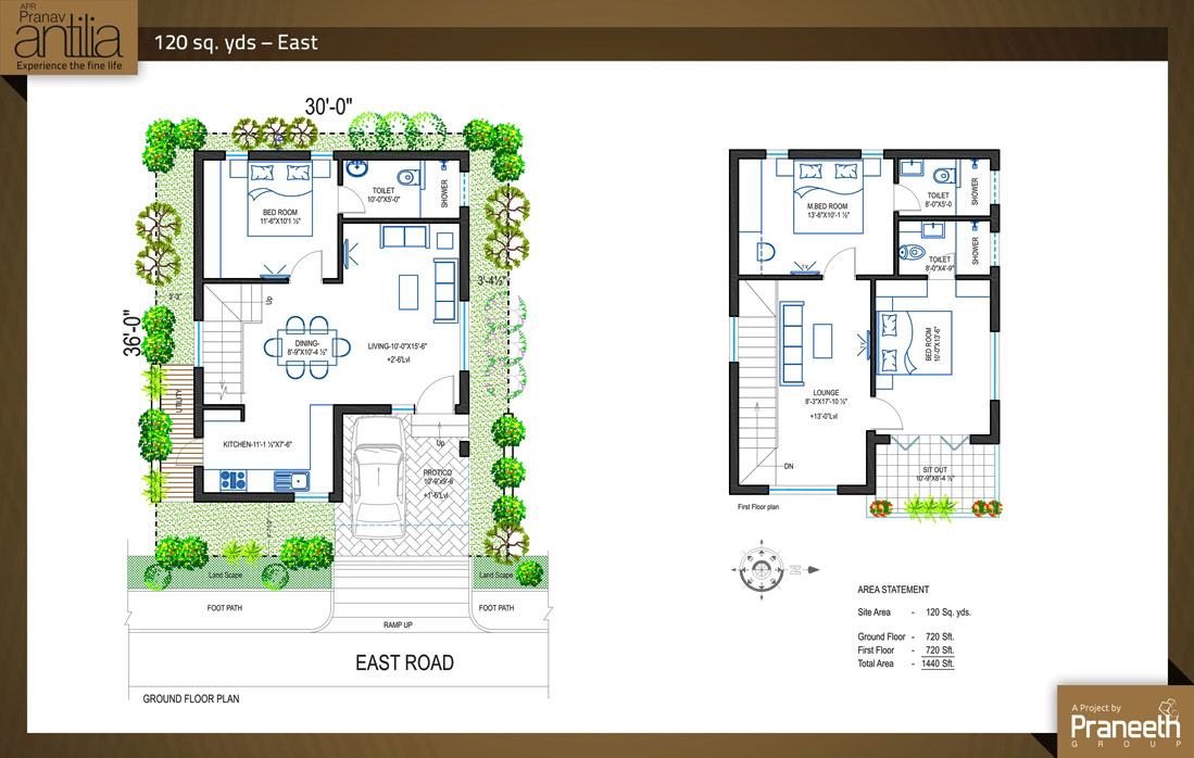 Floor plan praneeth group apr pranav antilia at for 1st floor house plan india
