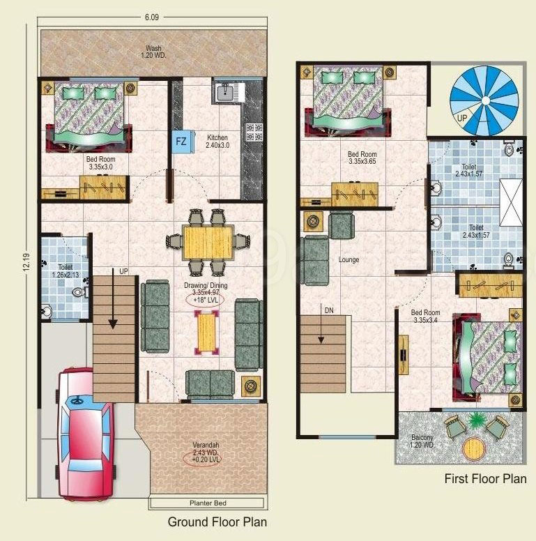 20 X 40 House Plans on 1250 Sq Ft Floor Plans