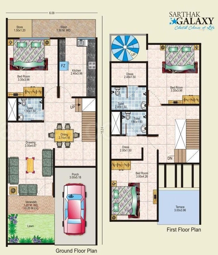 Floor plan sarthak estate developers sarthak galaxy at for 10 x 18 square feet