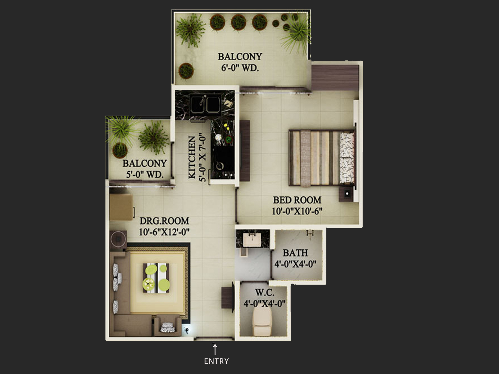 Floor Plan Supertech Limited Ecovillage 1 At Greater Noida West