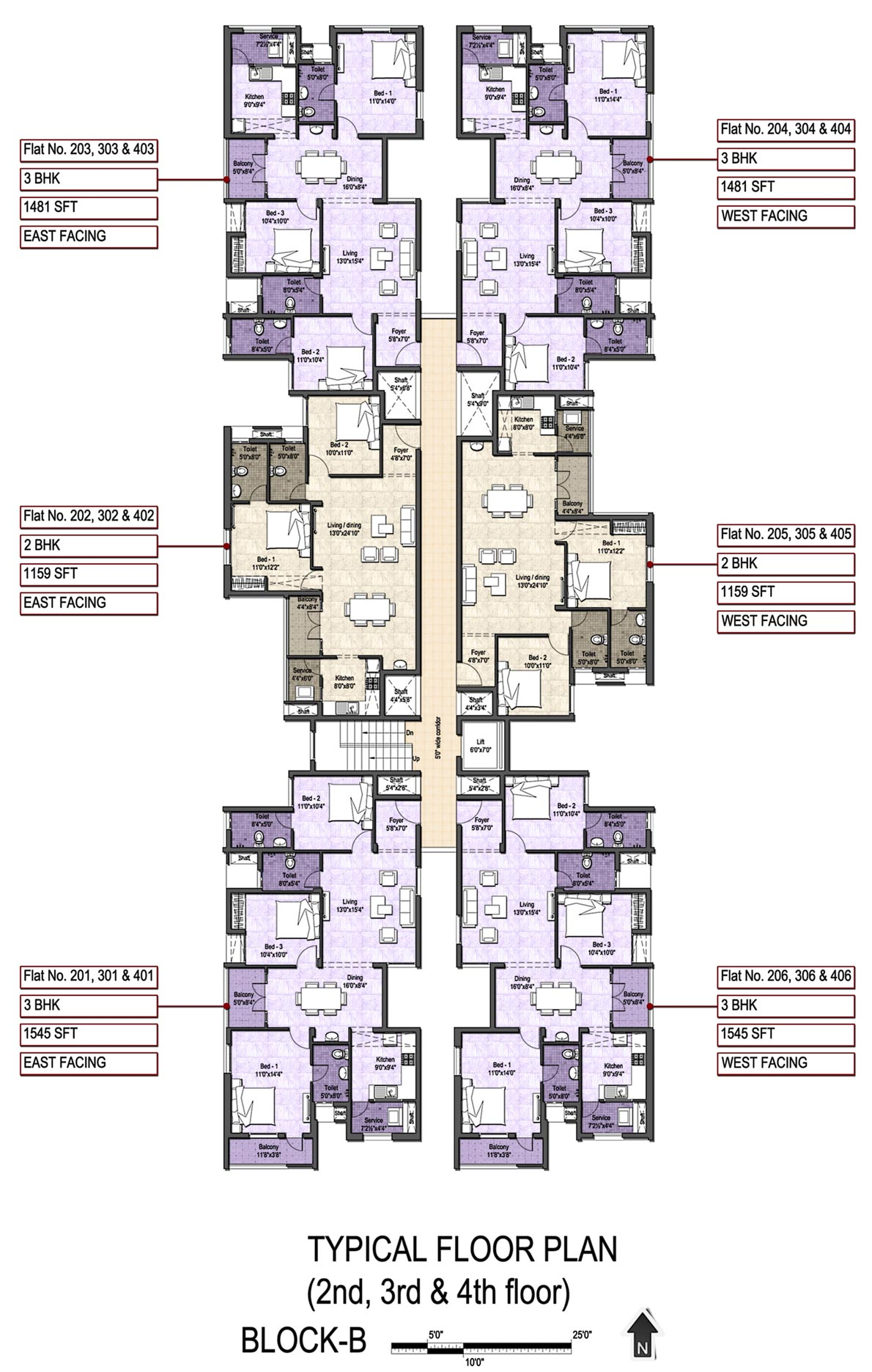 Floor plan vgn developers pvt ltd vgn stafford at for 12 unit apartment plans