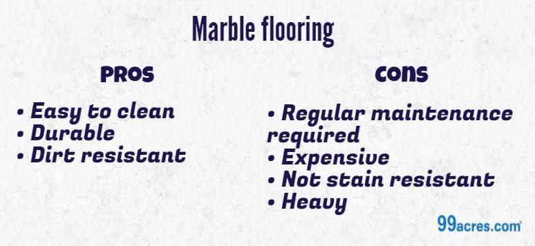 Marbled floors